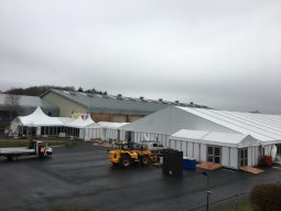 Setting up the marquee at Westpoint
